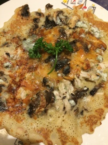 Chicken and Mushroom Pancake